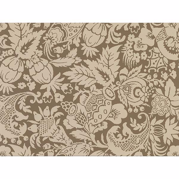 Bali Brown Scrolling Pattern