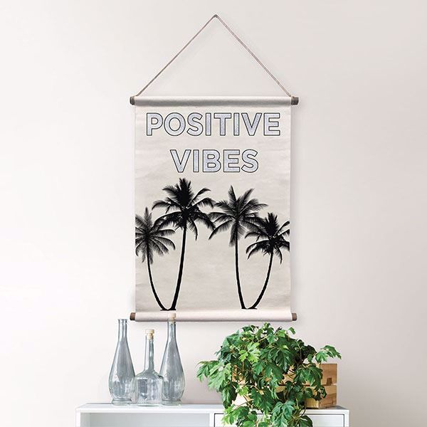 Positive Vibes Wall Tapestry