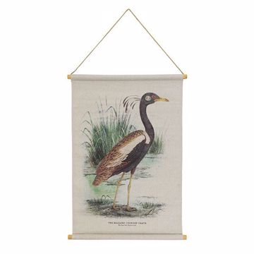 Picture of Crane Hanging Linen Tapestry