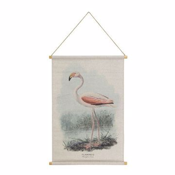 Picture of Flamingo Hanging Linen Tapestry