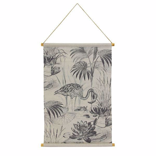 Picture of Lagoon Hanging Linen Tapestry