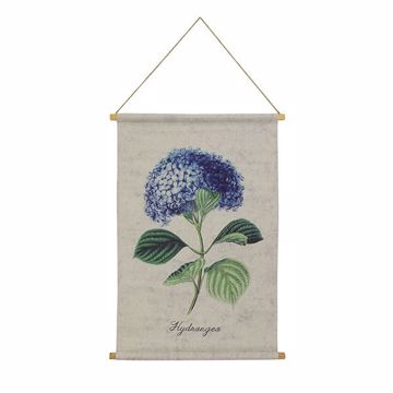 Picture of Hydrangea Hanging Linen Tapestry