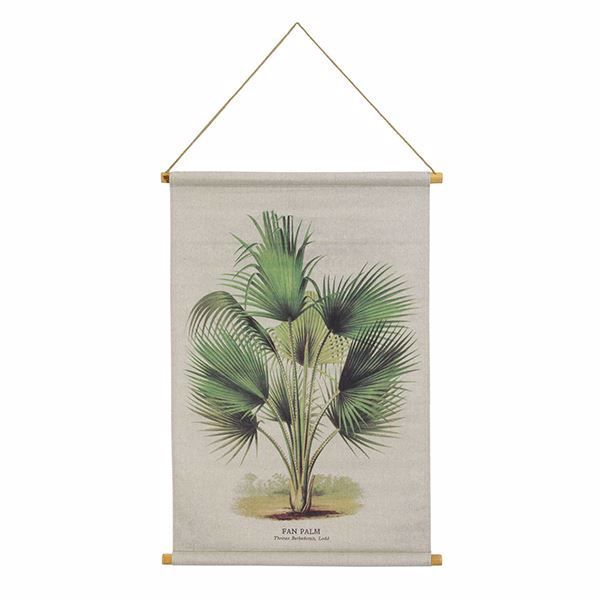 Picture of Palm Hanging Linen Tapestry