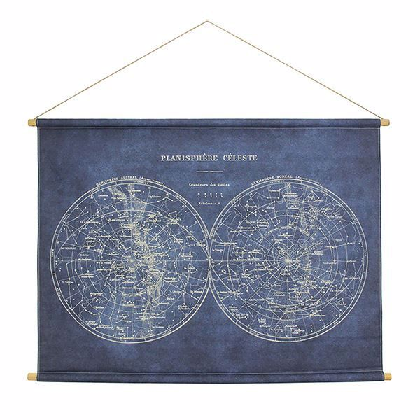 Picture of Celestial Map Hanging Linen Tapestry