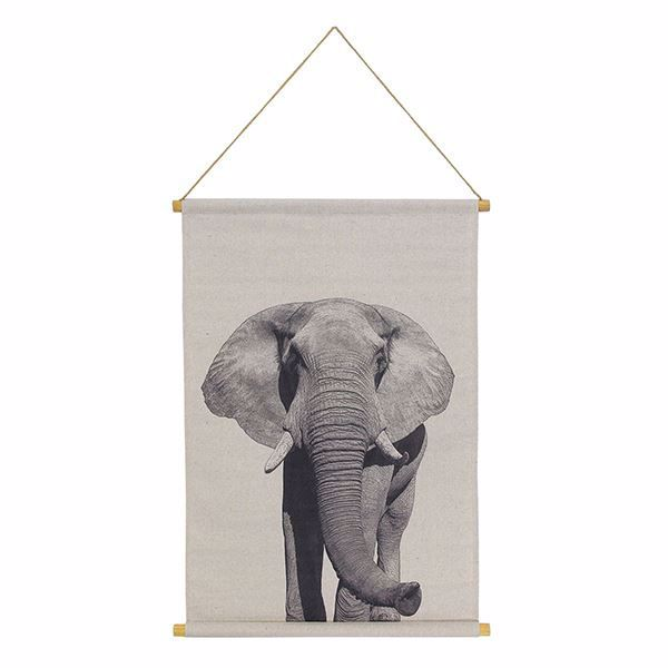 Picture of Elephant Hanging Linen Tapestry