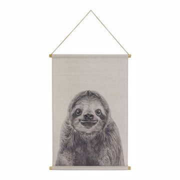 Picture of Sloth Hanging Linen Tapestry