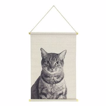 Picture of Cat Hanging Linen Tapestry