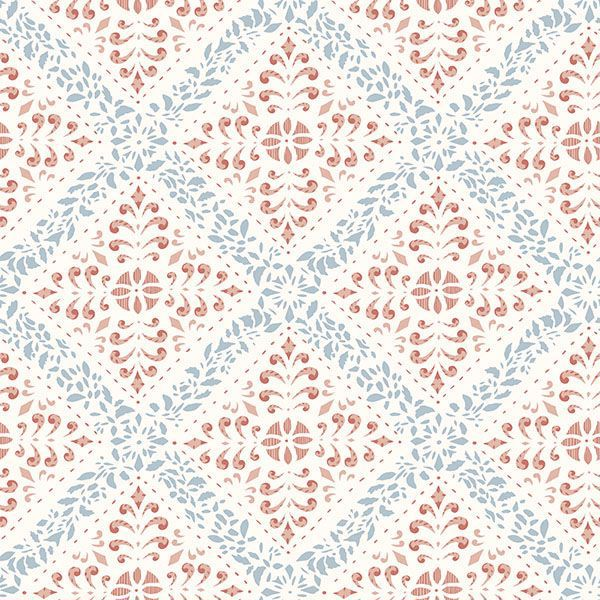Picture of Nyborg Multicolor Ornamental Geometric Wallpaper