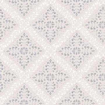 Picture of Nyborg Taupe Ornamental Geometric Wallpaper