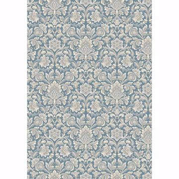 Picture of Foglavik Slate Damask Wallpaper