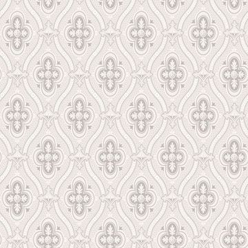 Picture of Pigkammaren Light Grey Ogee Wallpaper