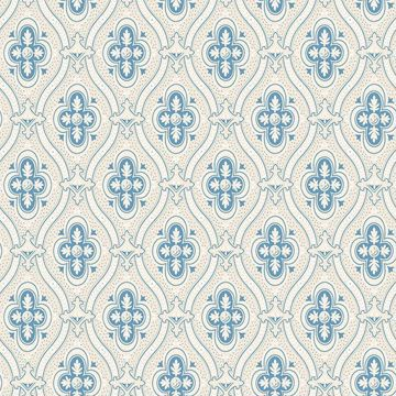 Picture of Pigkammaren Blue Ogee Wallpaper