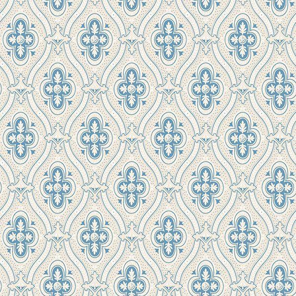 Picture of Pigkammaren Blue Ogee Wallpaper