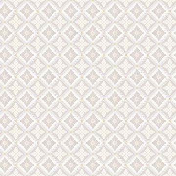 Picture of Loka Grey Geometric Floral Wallpaper
