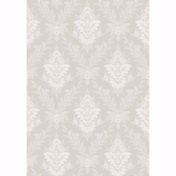 Picture of Sofia Light Grey Damask Wallpaper