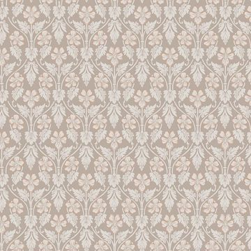 Picture of Nora Light Brown Ogee Wallpaper