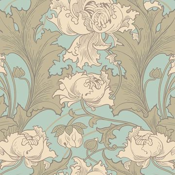 Picture of Siri Turquoise Floral Wallpaper