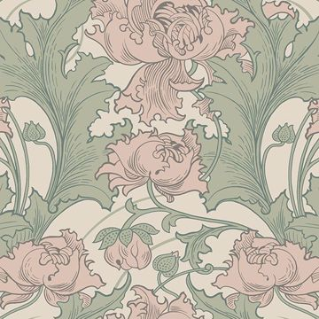 Picture of Siri Rose Floral Wallpaper