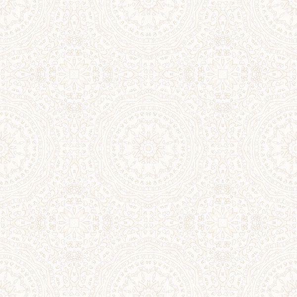 Picture of Marrakech Cream Medallion Wallpaper