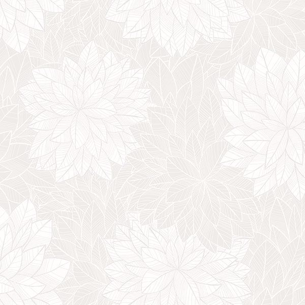 Picture of Foliage Grey Floral Wallpaper
