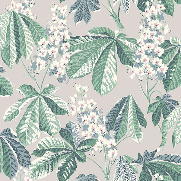 Picture of Chestnut Blossom Grey Floral Wallpaper