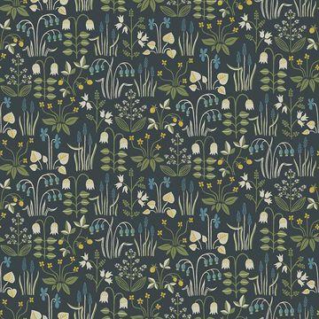Picture of Strawberry Field Multicolor Garden Wallpaper