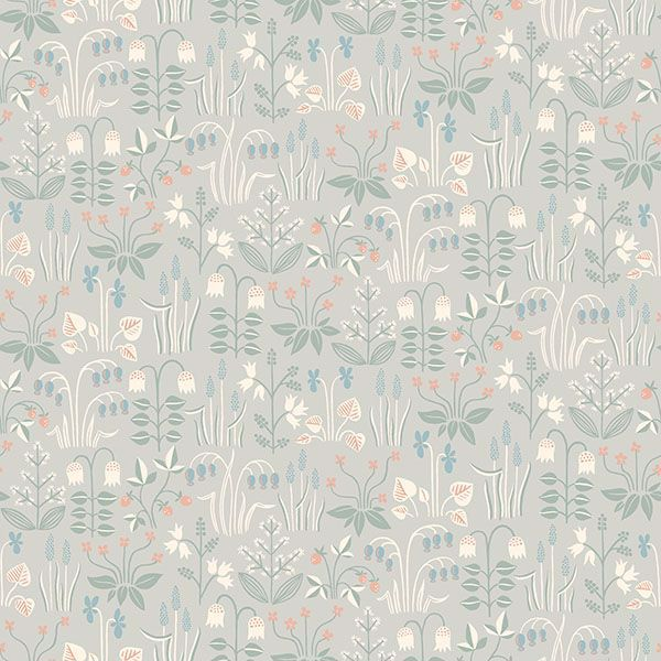 Picture of Strawberry Field Grey Garden Wallpaper