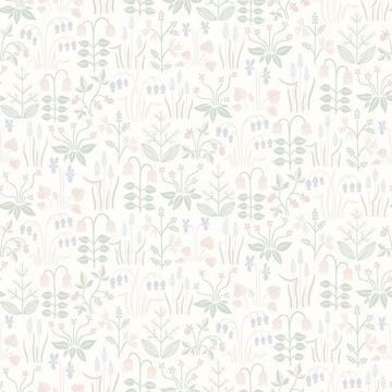 Picture of Strawberry Field Cream Garden Wallpaper