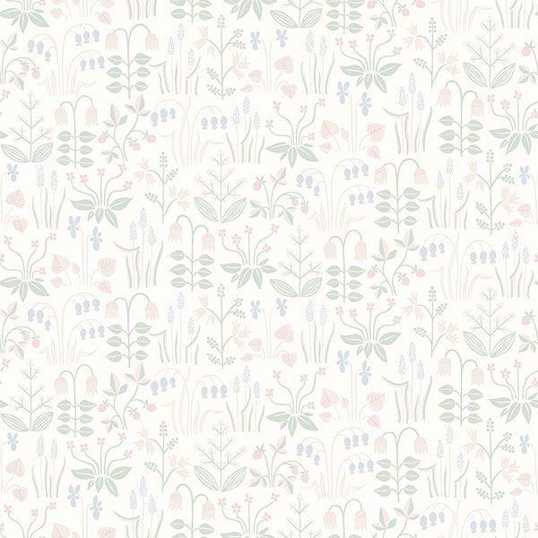 Picture of Strawberry Field Cream Garden Wallpaper