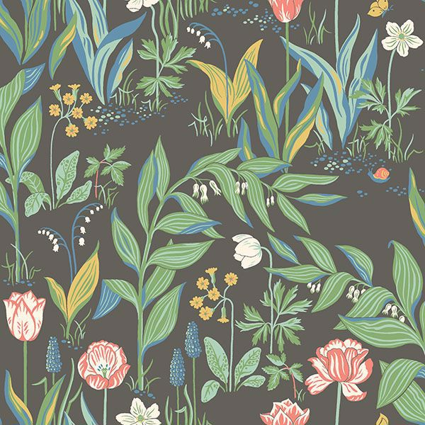 Picture of Spring Garden Multicolor Botanical Wallpaper