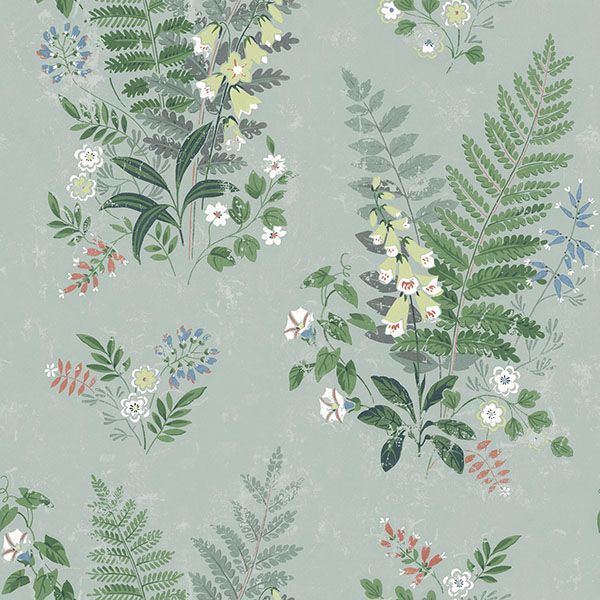 Picture of Foxglove Sage Botanical Wallpaper