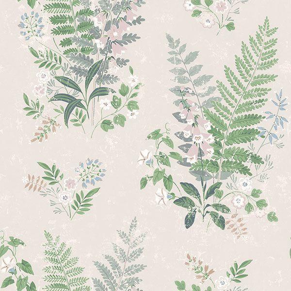 Picture of Foxglove Multicolor Botanical Wallpaper
