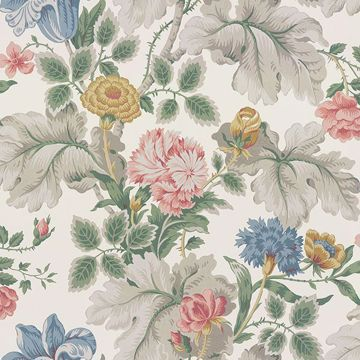 Picture of Carnation Garden Multicolor Floral Wallpaper