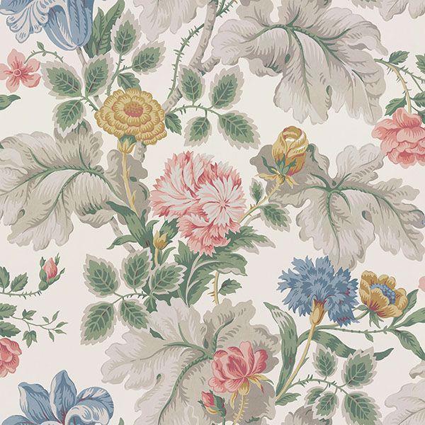 Picture of Carnation Garden Multicolor Floral Wallpaper