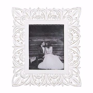 Picture of Belle White 14x11 Carved Picture Frame