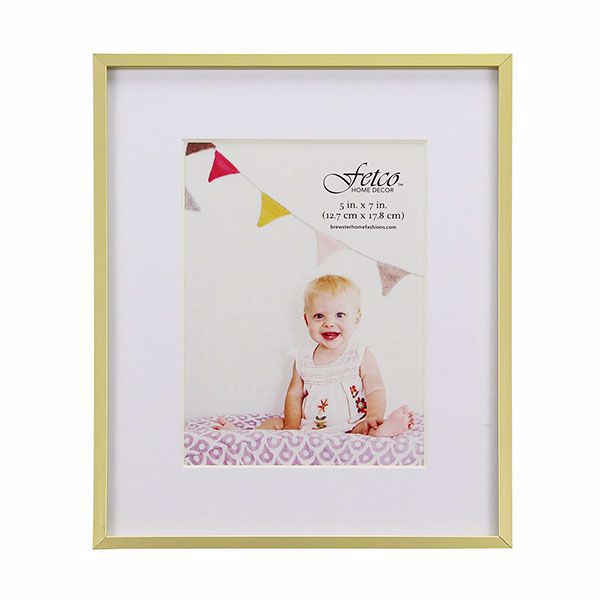 Picture of Hasting Small Gold Metal 5x7 Gallery Picture Frame