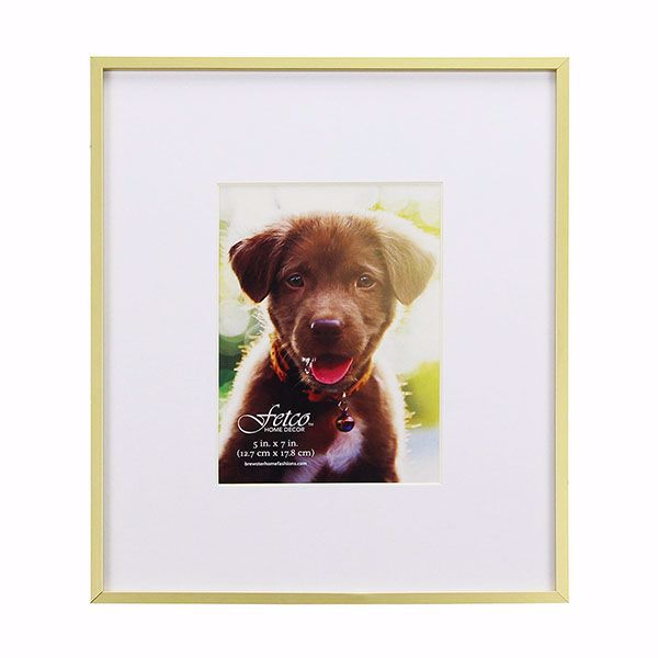 Picture of Hasting Medium Gold Metal 5x7 Gallery Picture Frame
