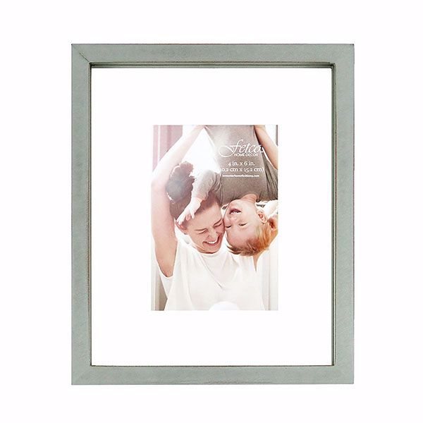 Picture of Nolan Grey 4x6 Floating Gallery Picture Frame
