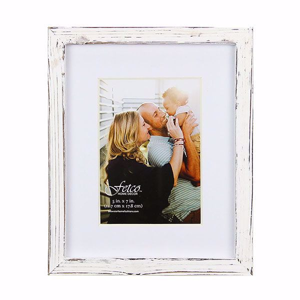 Picture of Noble Small Rustic White 5x7 Gallery Picture Frame