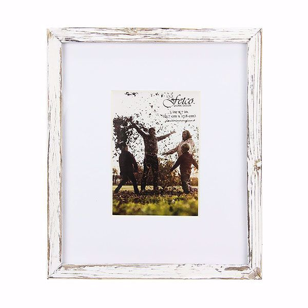 Picture of Noble Medium Rustic White 5x7 Gallery Picture Frame