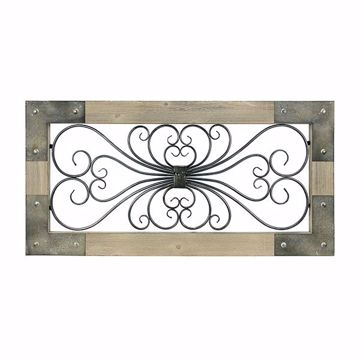 Picture of Tudor Beige Iron Scroll and Wood Gate Wall Decor