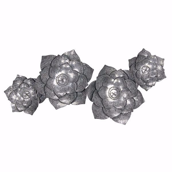 Picture of Marcos Floral Galvanized Metal Wall Art