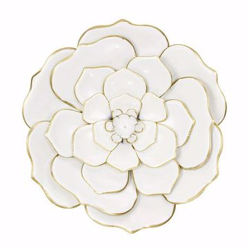 Picture of Ava White Floral Metal Wall Art