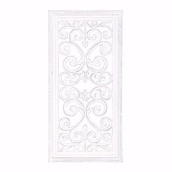 Picture of Melba White Carved Panel