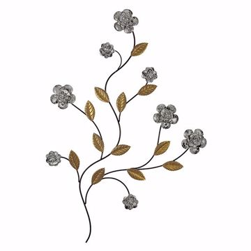 Picture of Robson Silver Floral Metal Wall Art