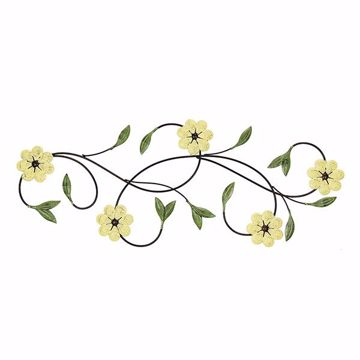 Picture of Seryl Yellow Floral Metal Wall Art