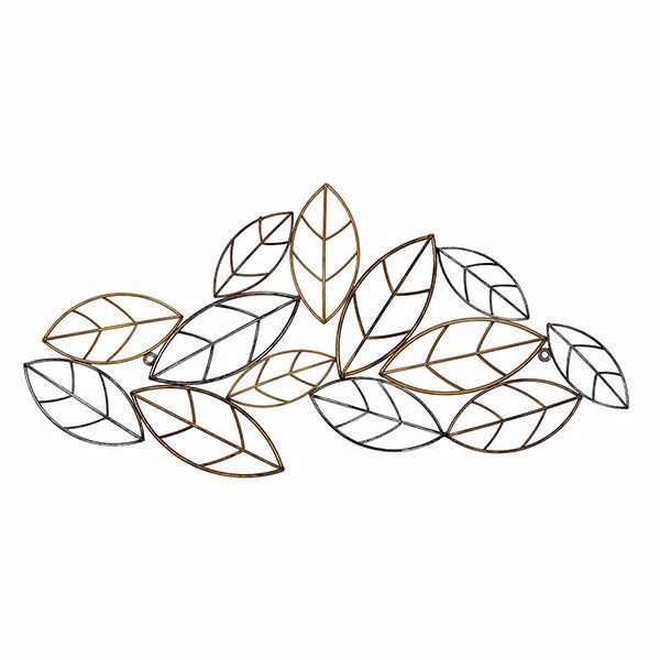 Picture of Cayla Bronze Leaves Metal Wall Art