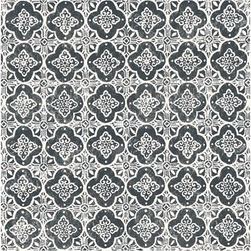 Picture of Seville Black Geometric Tile Wallpaper