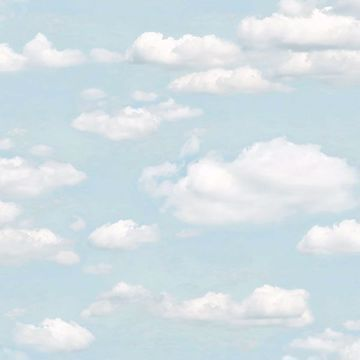 Picture of Bath Blue Clouds Wallpaper