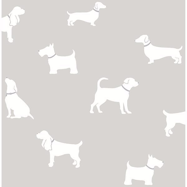 Picture of Metz Taupe Dog Silhouette Wallpaper